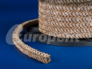 europolit PTFE packing with graphite filling interwined with KYNOL® yarn type EPK/Z