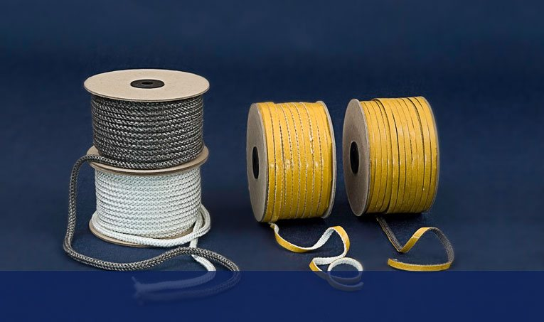 Ropes and tapes for fireplace inserts